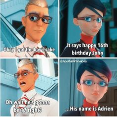 Credits to: hourlymiraculous Meraculous Ladybug, Ladybug Comics, Funny Horse Videos, Tom Y Jerry, Miraculous Ladybug Fan Art, Marinette And Adrien, Cartoon Jokes, Bugaboo, Cute Disney