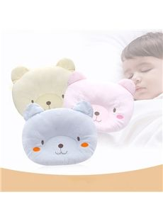 Cute and Comfy Bear Shape Prevent Flat Head Baby Pillow