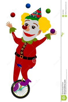 Clown Juggling Stock Image - Image: 23973821