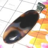 HUGE CHUNKY CLOSE OUT WHOLESALE SILVER PENDANTS Banded onyx  By Shaurya International