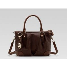 2012 Gucci Top Sukey Medium 2 Way Tote 247902 Chocolate $201.00 go to http://www.guccioutletstorevip.com