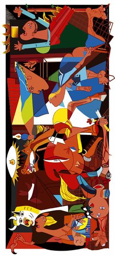 Coloreamos el Guernica de Picasso Picasso Guernica, Picasso Art, Picasso Paintings, Old Paintings, Pablo Picasso, Bombing Of Guernica, Fork Art, Art Education, Abstract Art