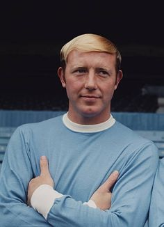 English footballer and centre half with Manchester City FC, George Heslop posed on the pitch inside Maine Road stadium in Manchester in July Get premium, high resolution news photos at Getty Images Manchester City, Football Soccer, First Love, Poses, Goal, Clock, Classic, Football Team, Figure Poses