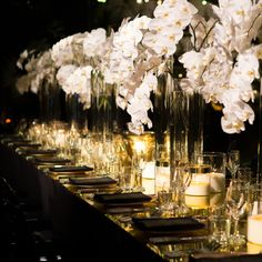Wedding Table Flower Centerpieces Orchid White | visit www.lovelyweddingideas.com