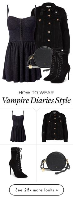 """""""Katherine Inspired Outfit - The Vampire Diaries / The Originals"""" by fangsandfas. - New Ideas Vampire Diaries Outfits, Vampire Diaries Stefan, Vampire Diaries Costume, Vampire Diaries Jewelry, Vampire Diaries Funny, Vampire Diaries The Originals, Steven Mcqueen, Caroline Forbes, Nina Dobrev"""