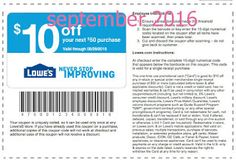 Free Printable Coupons: Lowes Home Improvement Coupons Free Printable Coupons, Free Printables, Store Coupons, Grocery Coupons, Print Coupons, Lowes Coupon Code, Coupon Codes