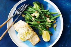 Fish with creamy lemon and dill sauce