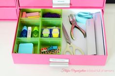 Blog as a few different ideas to use my drawers unit Filofax Organization A Bowl Full of Lemons 21