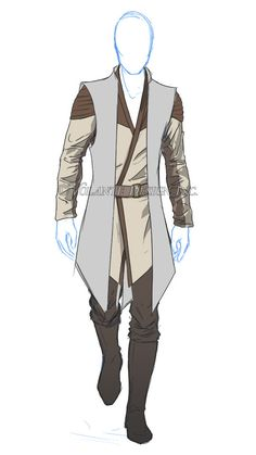 Griffin Traveling Clothes (Sleeves slightly shorter, plus quiver and side messenger bag) Costume Jedi, Jedi Cosplay, Fantasy Character Design, Character Design Inspiration, Character Art, Star Wars Concept Art, Star Wars Art, Star Wars Outfits, Fantasy Costumes