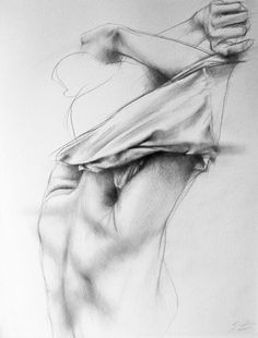 """Taking Off a Top""/ by Serge Zhukov/   Pencil on Paper(21x17)"