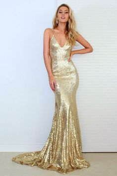 Mermaid Style Gold Prom Dress,Halter Backless Evening Homecoming Dress,Sexy Graduation Dress With Spaghetti Straps