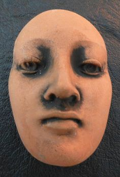 This face is now available on Etsy. Handmade ceramic face protection warrior priestess beading