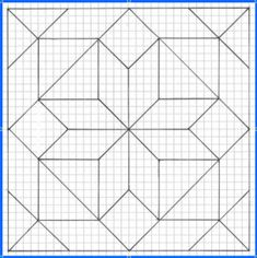 Geometric Origami, Geometric Drawing, Geometric Art, Barn Quilt Designs, Barn Quilt Patterns, Quilting Designs, Motifs Blackwork, Blackwork Embroidery, Easy Drawing Tutorial