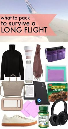 What to pack to survive a Long Flight ⋆ chic everywhere - what to pack on plane long flight, #traveltips airline travel tips and tricks, #longflight #packingtipsfortravel #packingguide  Everything I make sure to pack for a long haul flight to stay organized and comfortable for the flight. Packing List For Travel, Packing Tips, Europe Packing, Traveling Europe, Backpacking Europe, Vacation Packing, Travel Advice, Travel Guides, Travel Hacks