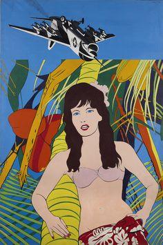 Bernard RANCILLAC, MELODIE SOUS LES PALMES, 1965, Acrylique sur toile.