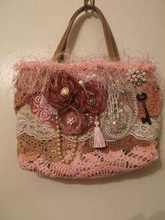 Upcycled Altered Little Purse Handbag Shabby by AngelsandRoses, $32.00