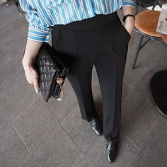 High Waisted Pleated Trousers by Miamasvin