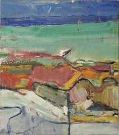 """ Richard Diebenkorn (1922-1993) Berkeley, signed and dated 'R. DIEBENKORN 1955' oil on canvas 24 x 21 in. 60.9 x 53.3 cm """