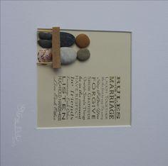 """Stein Bild  """"Rules for a happy marriage"""" Kiesel Art Pebble Art Geschenk Ruhestand Geburtstag Hochzeit Verlobung - Personalisierbar von StoneArt2015 auf Etsy"""