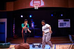 """How We Got On"" showing at Cleveland Play House from Oct. 24th - Nov. 16th 2014. Left to right: Kim Fischer as Julian, Portia as the Selector and Eric Lockley as Hank. © 2014 Roger Mastroianni #hiphop #80s #theatre #act #theatre #cleveland #cleveplayhouse"