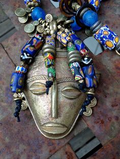 Ada...African+trade+beads+by+RedShoesDancing+on+Etsy,+$285.00