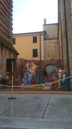 Presepe in Piazza del Duomo a Pietrasanta. Liceo Artistico Stagio Stagi Pietrasanta