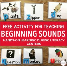 FREE beginning sound matching cards. Perfect for students to practice matching the letter to the picture using the beginning sound.