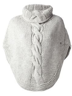 rolled neck collar knit