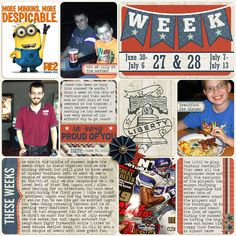 Project Life | week 27-28 right. Using kit - We the People by Libby Pritchett
