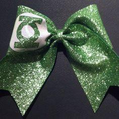 3in. Glitter Green Lantern Superhero Cheer Bow by BowsByTeri, $12.00