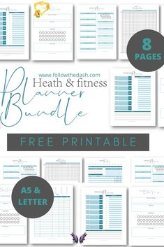 Fitness & Health Planner Bundle - Free Printables Start achieving your fitness goals with this Fitness & Health Planner Free Printables! #freeprintable  #freeprintableplanner #planneraddict<br> Start achieving your fitness goals with this Fitness & Health Planner Free Printables! Make your fitness goals a reality with the help of this Free Printable Bundle. Improve your health and wellbeing by tracking your calories and workout sessions, plan your daily and weekly meals, help yourself build…