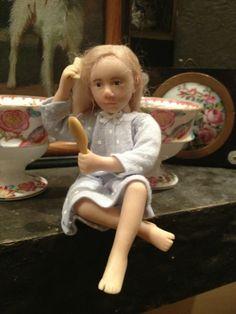OOAK little girl Catherine Muniere 1/12 Scale Miniature Doll