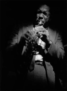 John Coltrane on soprano saxophone