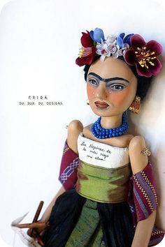 on october 1 2009 tags frida kahlo frida art doll more frida doll art Natalie Clifford Barney, Diego Rivera, Princesa Leia, Frida And Diego, Frida Art, Photo Coasters, Mexican Art, Medium Art, Oeuvre D'art