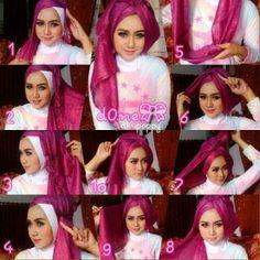 Tutorial Hijab Pesta Muslim Fashion, Hijab Fashion, Tutorial Hijab Pesta, Hijab Outfit, Turban, Aurora Sleeping Beauty, Disney Princess, Model, Outfits