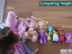 Comparing height tallest to shortest Problem Solving Activities, Math Activities For Kids, Math For Kids, Fun Math, Kids Learning, 4 Kids, Measurement Kindergarten, Measurement Activities, Preschool Letters