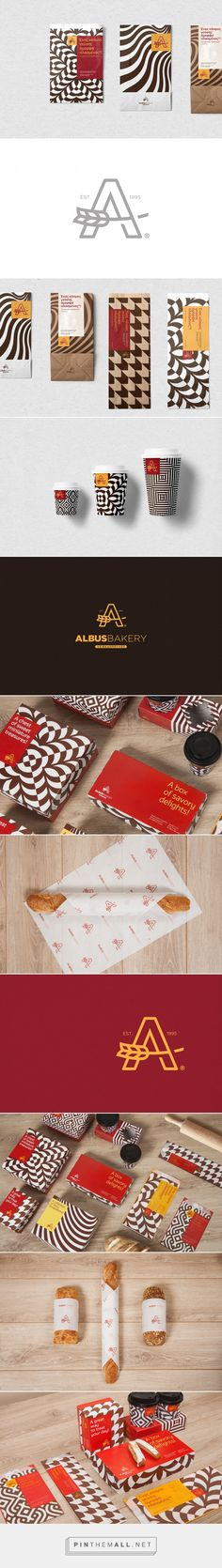Albus Bakeries visual identity on Behance... - a grouped images picture - Pin Them All