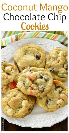 Perfectly soft and thick cookies loaded with dried mango, coconut, white and dark chocolate chips. One of best flavor combinations ever!