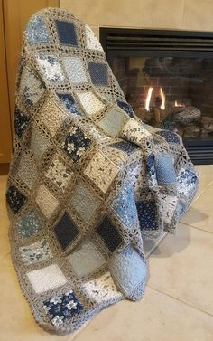 Diy Crafts - Stunning High Tea Crochet Quilt found on Crochet Crowd's FB page, posted by Amy Olbrich Schmidt Crochet Quilt Pattern, Crochet Bedspread, Crochet Fabric, Granny Square Crochet Pattern, Crochet Blanket Patterns, Quilt Patterns, Diy Crafts Crochet, Crochet Crowd, Denim Crafts