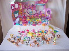 Littlest Pet Shop Fitness Gym Orange Tree House Lot 26 Pets Accessories RARE #Hasbro
