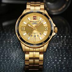 Top Luxury Men Sports Watches Men's Quartz Date Clock Man Stainless Steel Wrist Watch Relogio Masculino Mens Sport Watches, Watches For Men, Wrist Watches, Luxury Fashion, Mens Fashion, Well Dressed Men, Quartz Watch, Gold Watch, Fashion Accessories