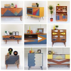 Retro: love it or hate it? We love it for sure! This was the most popular furniture flipping trend at Caramel Treasures in 2018! Retro interiors are still very popular and on trend. If you are looking for unique piece of furniture painted to your specification please visit our FB page and drop us a message!#paintedfurniture #bespokefurniture #interiordesign #retrostyle #retrointeriors #midcentury #homedecor #retrofurniture #carameltreasures