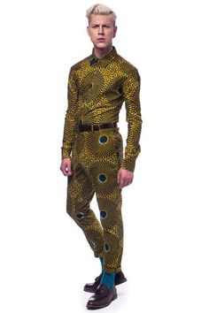 Long sleeve African print shirt Nsubra Men's Fashion, Fashion Prints, Fashion Design, African Inspired Fashion, African Print Fashion, African Prints, Kitenge, African Print Shirt, Afro