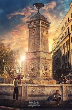 Terazije Fountain, Belgrade, Serbia prosla sam ovuda bezbroj puta.. hm ne secam se da je ikada bio ovakav prizor al svejedno leeepo