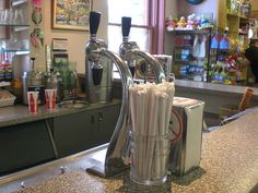 Soda Fountain at Lyon Drug by Jack Black's Stunt Double, via Flickr