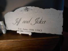 Personalized Custom Wedding  sign  Cottage, Chippy, Distressed