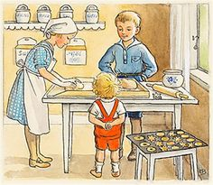 View Lisa bakar kakor by Elsa Beskow on artnet. Browse upcoming and past auction lots by Elsa Beskow. Vintage Book Art, Elsa Beskow, Art Folder, Most Beautiful Images, Botanical Prints, My Childhood, Sweden, Childrens Books, Lisa