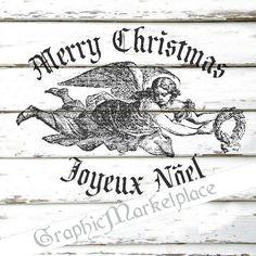 Merry Christmas Angel Noel Instant Download by GraphicMarketplace