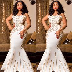 Glamorous Aso Ebi Styles Of 2018 Long African Dresses, African Wedding Dress, African Fashion Dresses, Ankara Fashion, Xhosa Attire, African Attire, African Wear, African Traditional Dresses, Traditional Wedding Dresses