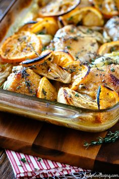 Oven-Roasted Orange Chicken with Fennel- will have to sub out the brown sugar for either palm sugar or sucanat